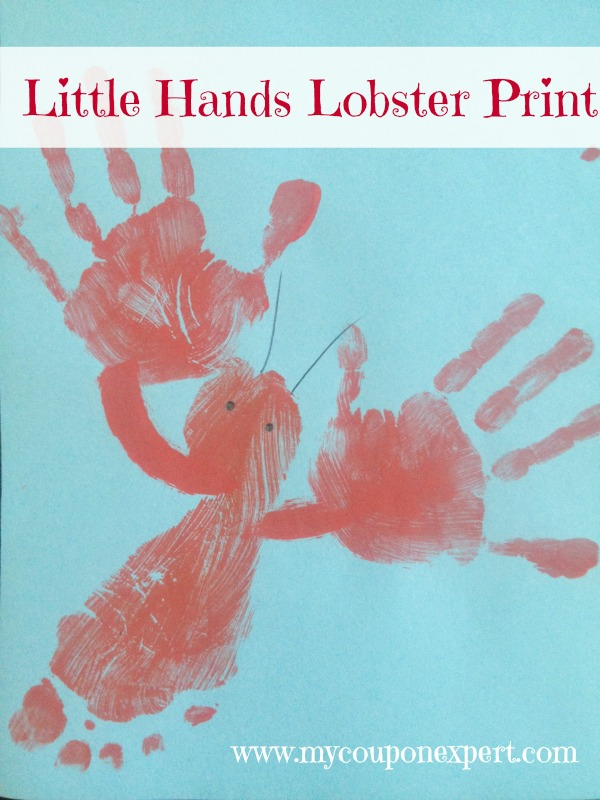 Friday Family Fun: Little Lobster Handprint