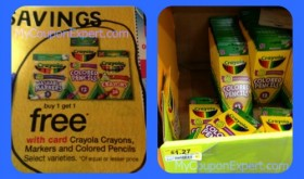 Just $.64 for Crayola Markers or Colored Pencils at Walmart by price matching!!