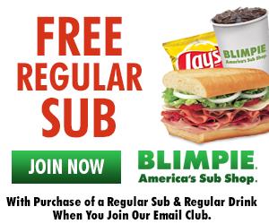 Free Regular Sub from Blimpie