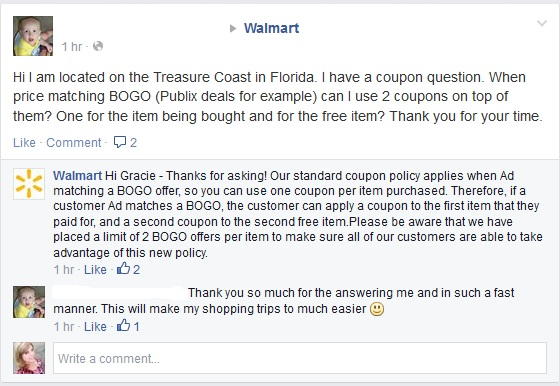 walmart bogo on facebook page