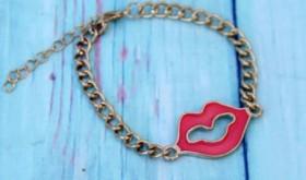 Kissy Lips Chain Bracelet Only $4.99