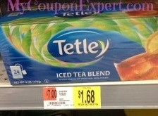 OVERAGE on Tetly Tea Bags at Walmart Until 9/16