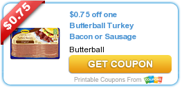 photograph about Butterball Coupons Turkey Printable identified as Contemporary Printable Coupon: $0.75 off just one Butterball Turkey Bacon