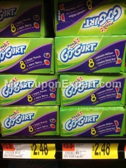 Walmart Hot Deal Alert! Yoplait Go-Gurt Portable Yogurt Only $0.74 Until 10/1