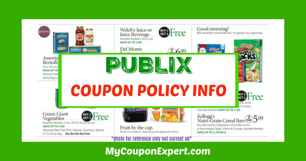 Publix Coupon Policy and FAQs as of October 1, 2014!