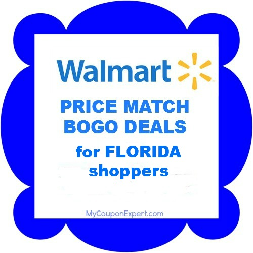 Walmart BOGO price match deals generic