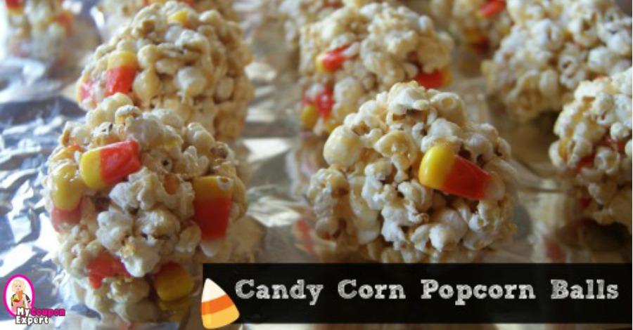 Candy Corn Popcorn Balls!!  Perfect for Halloween Treats!