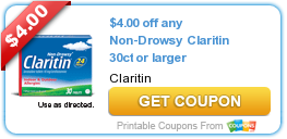 photo about Claritin Printable Coupons named Refreshing Printable Coupon: $4.00 off any Non-Drowsy Claritin 30ct