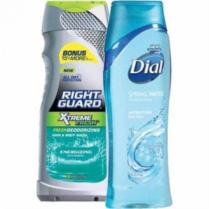 dial and right guard body wash