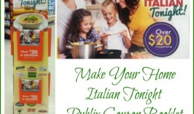 New Coupon Booklet at Publix!  Make Your Home Italian Tonight!