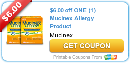 photo relating to Mucinex Printable Coupon known as Fresh new Printable Coupon: $6.00 off One particular (1) Mucinex Allergy