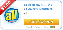 graphic relating to All Laundry Detergent Printable Coupons titled Fresh new Printable Coupon: $1.00 off any A person (1) all Laundry