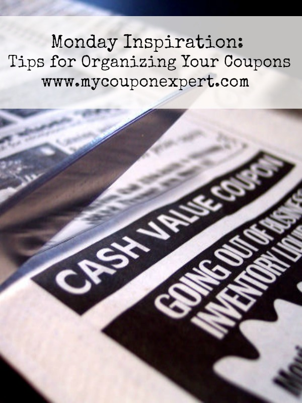 Monday Inspiration: 5 Tips for Keeping Coupons Organized
