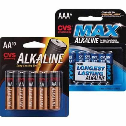 D Batteries Cvs  4 ECB wyb CVS Alkaline AAA