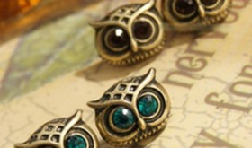 Two Pairs of Art Deco Owl Earrings Only $2.99 Shipped