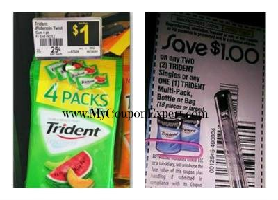 FREE Trident Gum at Dollar General