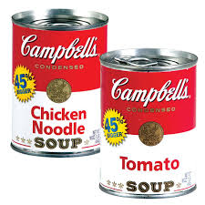 campbells chicken noodle and tomatoe