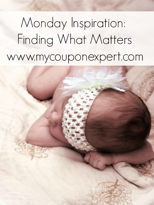 Monday Inspiration: Finding What Matters