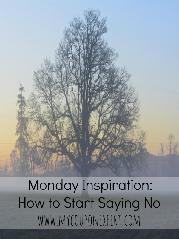Monday Inspiration: How to Start Saying No