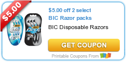 image about Bic Razor Coupons Printable identified as Contemporary Printable Coupon: $5.00 off 2 decide on BIC Razor packs ·