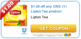 photo about Lipton Tea Printable Coupons identify Clean Printable Coupon: $1.00 off any Just one (1) Lipton Tea material ·