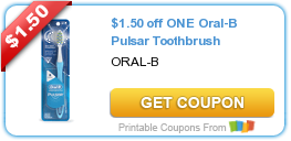 image about Oral B Printable Coupons identified as Contemporary Printable Coupon: $1.50 off A person Oral-B Pulsar Toothbrush ·