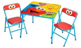 Sesame Street Activity Table and Chairs Set Only $25.00!! (TODAY ONLY!)