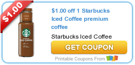 image about Starbucks Printable Coupons identified as Fresh Printable Coupon: $1.00 off 1 Starbucks Iced Espresso