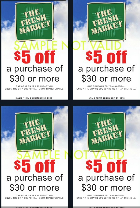 fresh market coupons