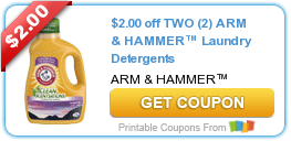 picture relating to Arm and Hammer Coupons Printable identified as Clean Printable Coupon: $2.00 off 2 (2) ARM HAMMER