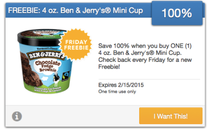 FREE Ben & Jerry's Mini Cup