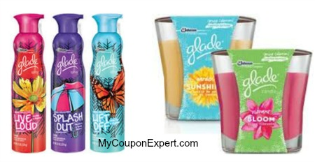 glade spray and candle