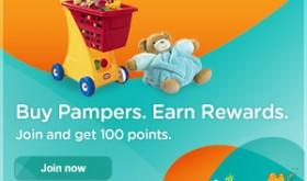 Pampers Rewards Program + 100 Free Points