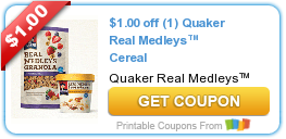 graphic about Quaker Printable Coupons identified as Scorching Contemporary Printable Discount coupons: Quaker, Dr. Pepper, Nestle