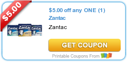 image regarding Zantac Printable Coupon known as Sizzling Refreshing Printable Coupon: $5.00 off any A person (1) Zantac ·