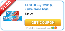 photograph about Ziploc Printable Coupons titled Sizzling Refreshing Printable Coupon: $1.00 off any 2 (2) Ziploc manufacturer