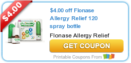 photo regarding Flonase Coupons Printable titled Sizzling Fresh new Printable Coupon: $4.00 off Flonase Allergy Aid