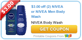 HOT New Printable Coupon: $3.00 off (2) NIVEA or NIVEA Men Body Wash - My Coupon Expert