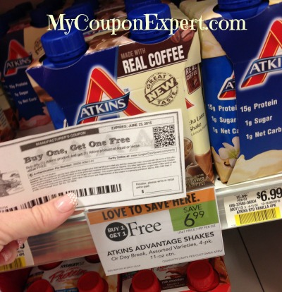graphic about Atkins Coupon Printable titled Scorching Atkins BOGO Coupon!! Absolutely free AT PUBLIX THIS 7 days! ·