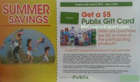 WOW!  Publix $5 Gift Card Promo Summer Savings is back!