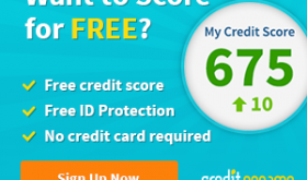 FREE Credit Score + Monitoring + ID Protection {NO Credit Card Needed!!}