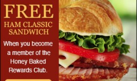 FREE Ham Classic Sandwich from HoneyBaked!!