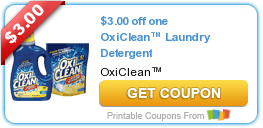 "picture about Oxiclean Printable Coupon identify Sizzling Fresh new Printable Coupon: $3.00 off one particular OxiCleanâ""¢ Laundry"