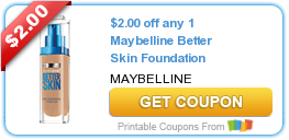 Maybelline Better Skin Foundation Printable Coupon