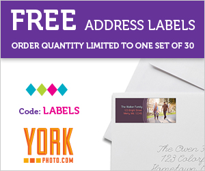 FREE Address Labels from York Photo