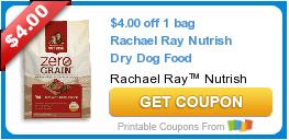 image about Printable Rachael Ray Dog Food Coupons identify Scorching Fresh Printable Coupon: $4.00 off 1 bag Rachael Ray