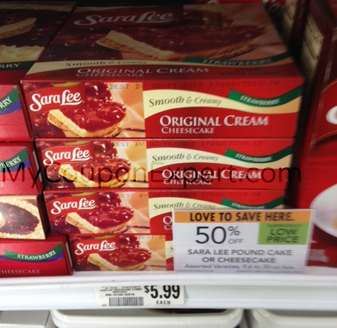 Sara Lee Cheesecake just $2.00 at Publix!!  Check this out!!