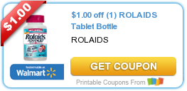 Hot New Printable Coupon 1 00 Off 1 Rolaids Tablet Bottle