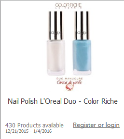Get PAID to test L'Oreal Color Riche Nail Polish Duo