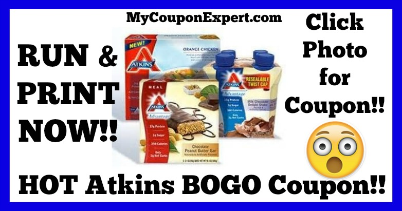 HOT Atkins BOGO Coupon + FREE Atkins Quick-Start Kit